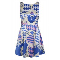 Amber Baroque Print Dress, Little Party Dress, $59.95 http://www.littlepartydress.com.au/products/amber-baroque-print-dress