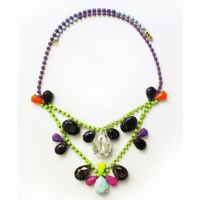 NotYourStyle Hand-Painted Vintage Neon Rhinestone Necklace from Etsy, $95. http://www.etsy.com/listing/125587870/hand-painted-vintage-neon-rhinestone?ref=shop_home_feat