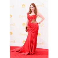 Christina Hendricks in red Marchesa.