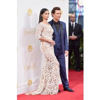 Matthew McConaughey and Camilla Alves, in Zuhair Murad.