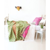 Sage and Clare Vintage Kantha blanket, $189 http://sageandclare.com/collections/lounge/products/tish-vintage-kantha-blanket