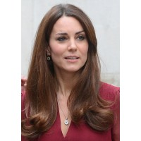 Kate eschews highlights, preferring an all over rich mahogany. Image via http://uk.lifestyle.yahoo.com/kate-middleton-s-power-brows-cause-huge-surge-in-demand-for-semi-permanent-eyebrow-treatments-114441806.html