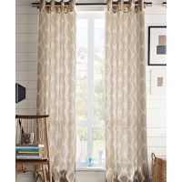 Long drapey curtains add value to your windows. http://www.westelm.com/products/ikat-ogee-linen-window-panel-r917/?pkey=cwindow-panel-sale