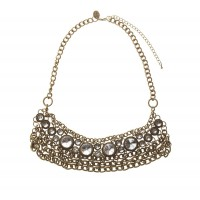 Burnished Gold Diamonte Bib $19.95 http://www.lovisa.com.au/burnished-gold-diamante-bib-necklace.html