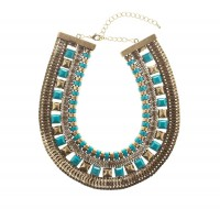 Statement necklace - Turquoise Tribal Collar Stud NEcklace $39.95 http://www.lovisa.com.au/turquoise-tribal-collar-stud-necklace.html