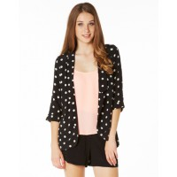Glassons Spotted Blazer, $39.95, http://www.glassons.com/product/spotted-blazer?i=JW20757SPO&v=23054424