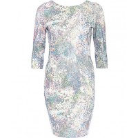 Blue Floral Sequin Embellished Bodycon dress - $80.99 http://au.riverisland.com/women/dresses/bodycon-dresses/Blue-floral-sequin-embellished-bodycon-dress-654437