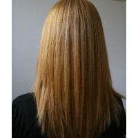 After flat iron - really sleek and soft. A very noticeable change.