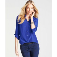 Ann Taylor Silk Blouse in cobalt, AUD $144.10 http://www.anntaylor.com/silk-blouse/307563?colorExplode=false&skuId=14550263&catid=cata00008&productPageType=fullPriceProducts&defaultColor=1300