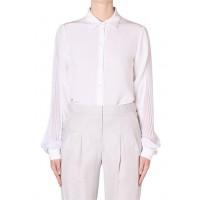 White Silk CDC Plisse Shirt, Bianca Spender, $225 http://www.biancaspender.com/eboutique/SALE/136761.0000/White-Silk-CDC-Plisse-Shirt.html