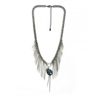 Peter Lang Spikes and Crystal Necklace, $199. http://www.peterlang.com.au/shop/item/metalic-blue-swarovski-crystals-necklace-spike