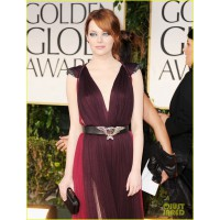 In Lanvin at the 2012 Golden Globe Awards http://cdn01.cdn.justjared.com/wp-content/uploads/2012/01/emma-globes/emma-stone-golden-globes-2012-01.jpg