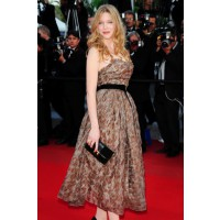 Lea Seydoux in Louis Vuitton dress and Sophia Coppola and Louis Vuitton clutch. stylerumor.com