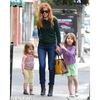 Isla Fisher out in LA with her daughters. http://www.popsugar.com/Isla-Fisher-Her-Kids-LA-Pictures-26967060