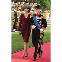 At the October wedding of Princess Stephanie of Luxembourg. http://au.lifestyle.yahoo.com/new-idea/news/article/-/15367437/princess-mary-s-new-tragedy/