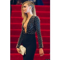 Model Cara Delevingne in Burberry at the 2013 Met Gala. http://i.huffpost.com/gen/1123812/thumbs/o-CARA-DELEVINGNE-MET-BALL-2013-570.jpg?6