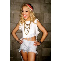 Rita rocks ripped shorts http://www.ritaora.com/uk/official-photos/official-photos