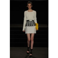 Winter white Sass and Bide shown at London Fashion week. http://live-from-london.sassandbide.com/