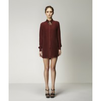 Alexandr Shirt Dress in Claret