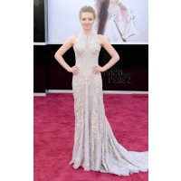Amanda Seyfried in Alexander McQueen explores the Bridal Expo theme of this year's Academy Awards. via http://www.perezhilton.com
