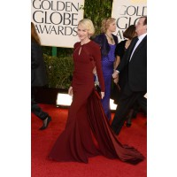 Wearing Zac Posen at this year's Golden Globe Awards. swaggernewyork.com