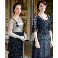 Sybil and Mary from Downton Abbey. Image via http://dianaoverbey.wordpress.com/2012/02/19/interview-with-downton-abbey-costume-designer-susannah-buxton/