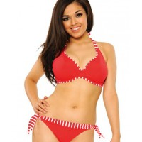 Curvy Kate - Horizon Horizon by Curvy Kate available to size J http://www.bravalingerie.com.au/lingerieitem/curvy-kate-swimwear-horizon-halter-bikini-top-red_item.html