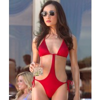 Maggie Q looking fierce in a red one piece as Nikita http://www.wetpaint.com/nikita/articles/nikita-poll--whos-got-the-hotter-bikini--lyndsy-fonseca-or-maggie-q credit: CW