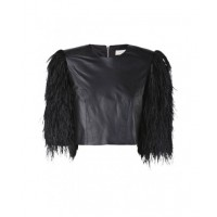 Sass and Bide dusk shadow leather and fur capelet $790 http://www.sassandbide.com/eboutique/accoutrement/dusk-shadow.html
