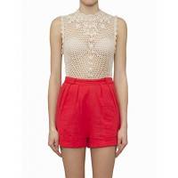 Ryder Olivia Linen Short Floral $149.00 http://ryderlabel.com/collections/all/products/olivia-linen-short-floral AND Ryder Hand Crochet Singlet $189.00 http://ryderlabel.com/collections/all/products/hand-crochet-singlet