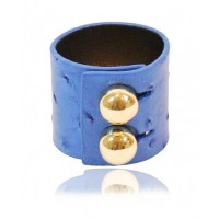 Rachael Ruddick wide cuff in royal blue ostrich effect $150 http://rachaelruddick.com/index.php/accessories/rr-cuff-wide.html