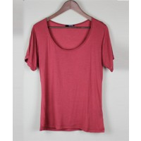Modal silk blend scoop neck tee $95.00 http://sosumeclothing.com/collection/tees/scoop-neck-tee-rust.html