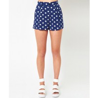 Mink Pink Co Co Polka shorts Navy $59.00 http://shopmarkethq.com/collections/brands-minkpink?looks=true