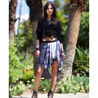 Boots and skirt http://www.harpersbazaar.com/fashion/fashion-articles/coachella-street-style-2012#slide-5 credit: mr newton