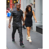 Kanye West and Kim Kardashian source: Huffingtonpost credit: SplashNews http://www.huffingtonpost.com/2012/08/09/kim-kardashian-kanye-west-shoes_n_1759527.html