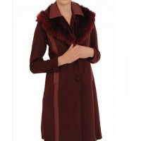 Scanlan & Theodore wine shearling coat source: Fab Sugar credit: Scanlan & Theodore http://www.fabsugar.com.au/See-Scanlan-Theodore-Autumn-Winter-13-Look-Book-Full-28554292?slide=29&image_nid=28554374