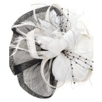 Black and white flower fascinators (Shauna) source: fashionaddict.com.au credit: fashionaddict.com.au http://www.fashionaddict.com.au/hair-fascinators/black-white-flower-fascinator-shauna.html