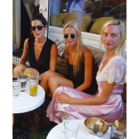 Jenna, Prisca, Virginie, and Claire at Bread in NYC source: www.vogue.com credit: Courtin-Clarins sisters own photos http://www.vogue.com/vogue-daily/article/fashion-week-photo-diary-the-courtin-clarins-girls-take-manhattan/#1