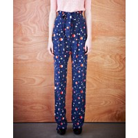 Karen Walker Belted Orion Pants in night galactic source: Karen Walker Online credit: Karen Walker http://shop.karenwalker.com/products/belted-orion-pants-night-galactic-cdc