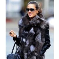 Alessandra Ambrossio in dark fur vest source: Zimbio credit: Bauer Griffin http://www.zimbio.com/pictures/l4EXqzkqe18/Alessandra+Ambrosio+Daughter/_0FfQ2C0Qno/Alessandra+Ambrosio