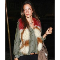 Alessandra Ambrosio in coloured fur source: Zimbio credit: Pacific Coast News http://www.zimbio.com/pictures/E5u3k-CSzLC/Alessandra+Ambrosio+Madeo+Fiance+Jamie+Mazur/FSV5KG74LXC/Alessandra+Ambrosio