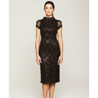 Collette Dinnigan French metallic lace fitted dress source: Collette Dinnigan online credit: Collette Dinnigan http://shop.collettedinnigan.com.au/french-metallic-lace-fitted-dress/
