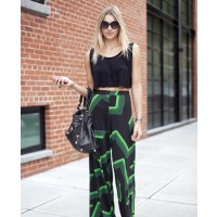 Jess Hart in palazzo pants source: Cupids Wardrobe Blog credit: Altamira fashion http://cupidswardrobe.wordpress.com/2012/09/14/models-off-duty-at-nyfw/