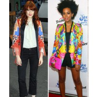 Solange Knowles and Florence Welsch rock the patterned blazer source: Fab Sugar credit: Getty http://www.fabsugar.com/latest/Printed-Blazers