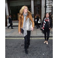 Cat Deeley in biker chic source: lovebags.com credit: tlfan http://www.lovebbags.com/2011/04/cat-deeleys-camel-biker-jacket.html