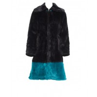 Charlie Brown 'Coiffune' Black/Teal fur coat source: Charlie Brown online store credit: Charlie Brown http://shop.charliebrown.com.au/coiffune-black-teal-fur-coat/