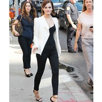 Emma Watson looking chic in a black and white outfit source: posh 24.com credit: WENN.com http://www.posh24.com/photo/2002713/emma_watson_heelless_shoe_whi
