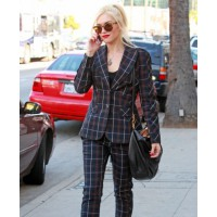 Gwen Stefani in a plaid suit in strolling through West Hollywood http://www.justjared.com/photo-gallery/2611688/gwen-stefani-plaid-lady-in-west-hollywood-05/ source: just jared credit: Just Jared