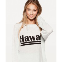 Wildfox Hawaiian dream destroyed sweater in chill pill source: wildfox.com credit: Wildfox http://www.wildfoxcouture.com/HAWAIIAN-DREAM-DESTROYED-SWEATER-PID45826-WIT784C59.aspx