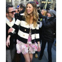 Whitney Port in white and black blazer source: credit: Rex Features http://www.glamourmagazine.co.uk/dos-and-donts/style-and-fashion/2009/02/16/whitney-port-in-a-black-and-white-striped-jacket